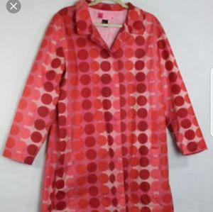 mossimo size med polka dot rain jacket
